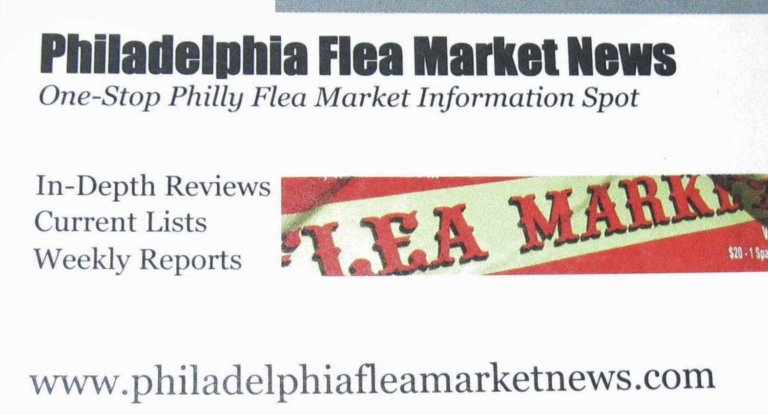 Philadelphia Flea Market News business card. | Flea Market Pictures ...