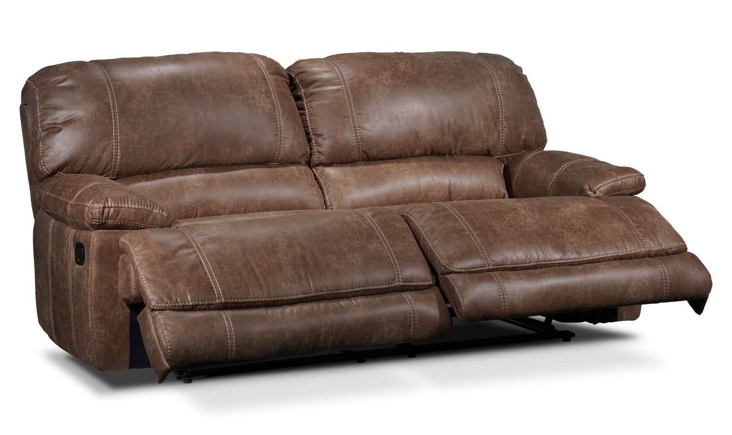 Slipcovers For Sofas Saddle Up The rugged look of the Durango reclining sofa makes it just the place