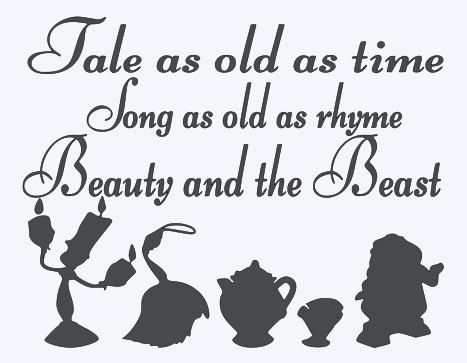 Tale As Old As Time Song As Old As Rhyme Beauty By Myvinyldecals