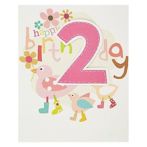 Buy Caroline Gardner 2nd Birthday Card Online at johnlewis – 2nd Birthday Cards