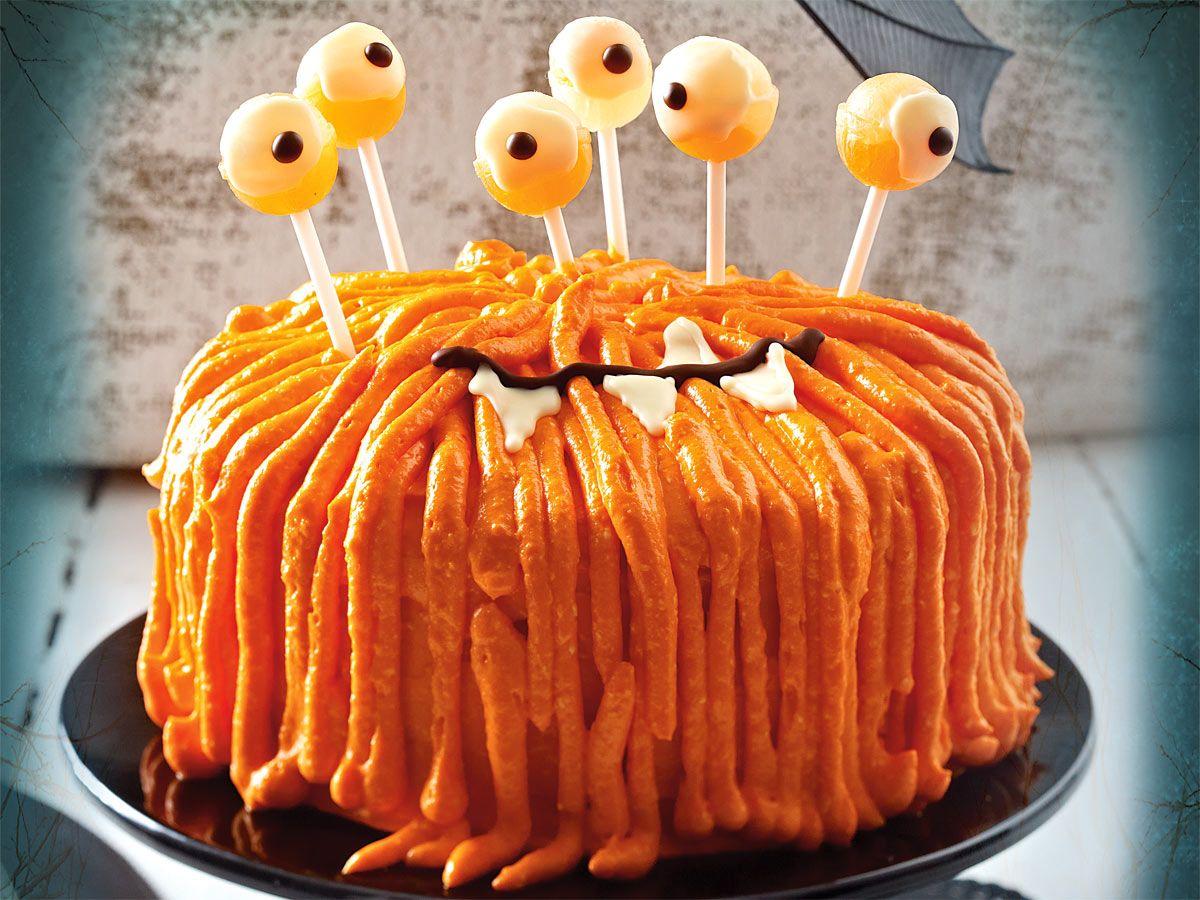 Stielugige ZottelMonsterTorte Rezept  Halloween