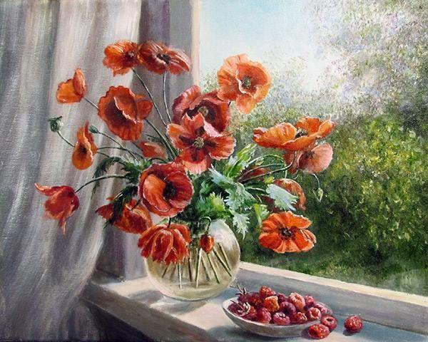 Фото из записи: | Цветы, Раскраска по цифрам, Картины