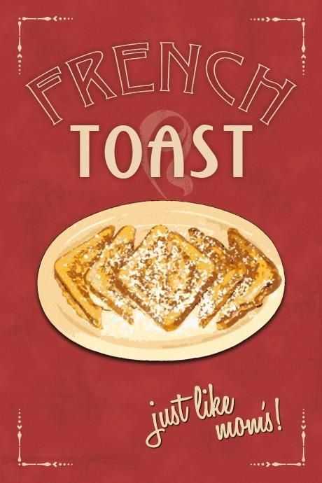 French toast with butter and powdered sugar