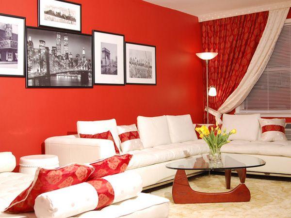 Sala de Estar roja Salas rojas Pinterest Sala de estar, Rojo y