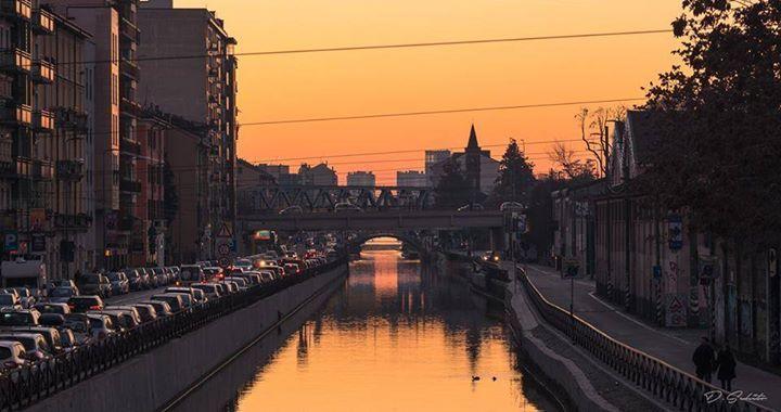 Con Davide Schito eccoci sul meraviglio Naviglio Grande #milanodavedere Milano da Vedere
