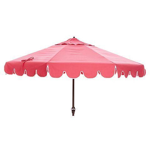 One Kings Lane Phoebe Scallop-Edge Patio Umbrella - Pink   Pinterest ...
