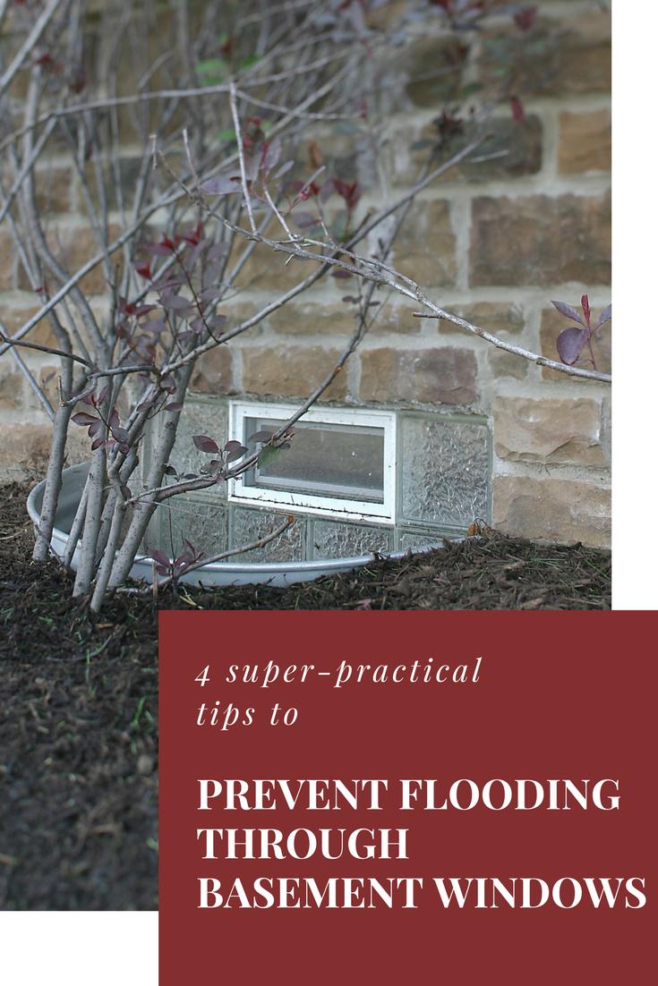 4 Super Practical Tips To Prevent Flooding Through Basement Windows Basement Windows Glass Block Windows Glass Block Basement Windows