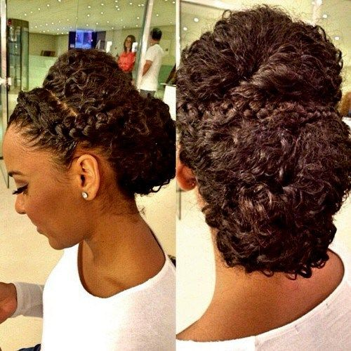 50 Cute Updos for Natural Hair | Hair in 2019 | Curly hair ...