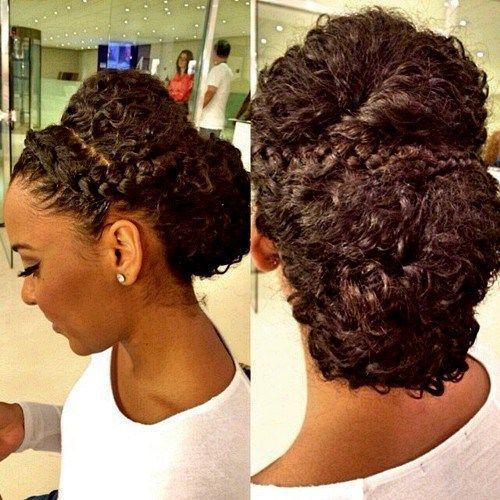 50 Cute Updos For Natural Hair Natural Hair Updo Curly Hair