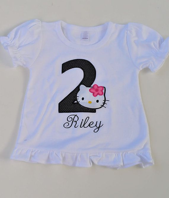 Hello Kitty Birthday Shirt By Tutticutesytutus On Etsy 2500