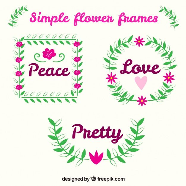 Colorful pack of lovely floral frames Free Vector Free stuff - halloween decoration printouts