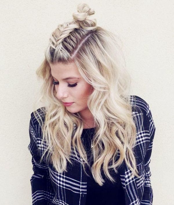 Hairstyles Half: 10 Ideas Of Half-up Bun, Perfect Hairstyle For Back To