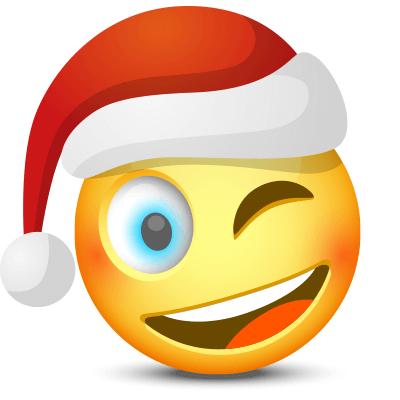 Winking Santa Facebook Symbols Christmas Pinterest Santa