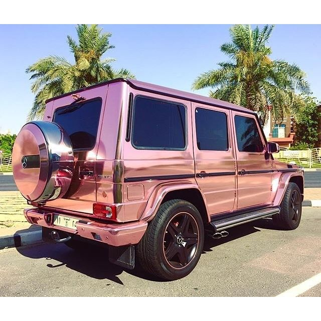 Saudi Gold Rose G Class In Dubai Pic By The Worldtraveller Mercedes G63 Amg Saudi Dubai Dream Cars Jeep Lux Cars Dream Cars