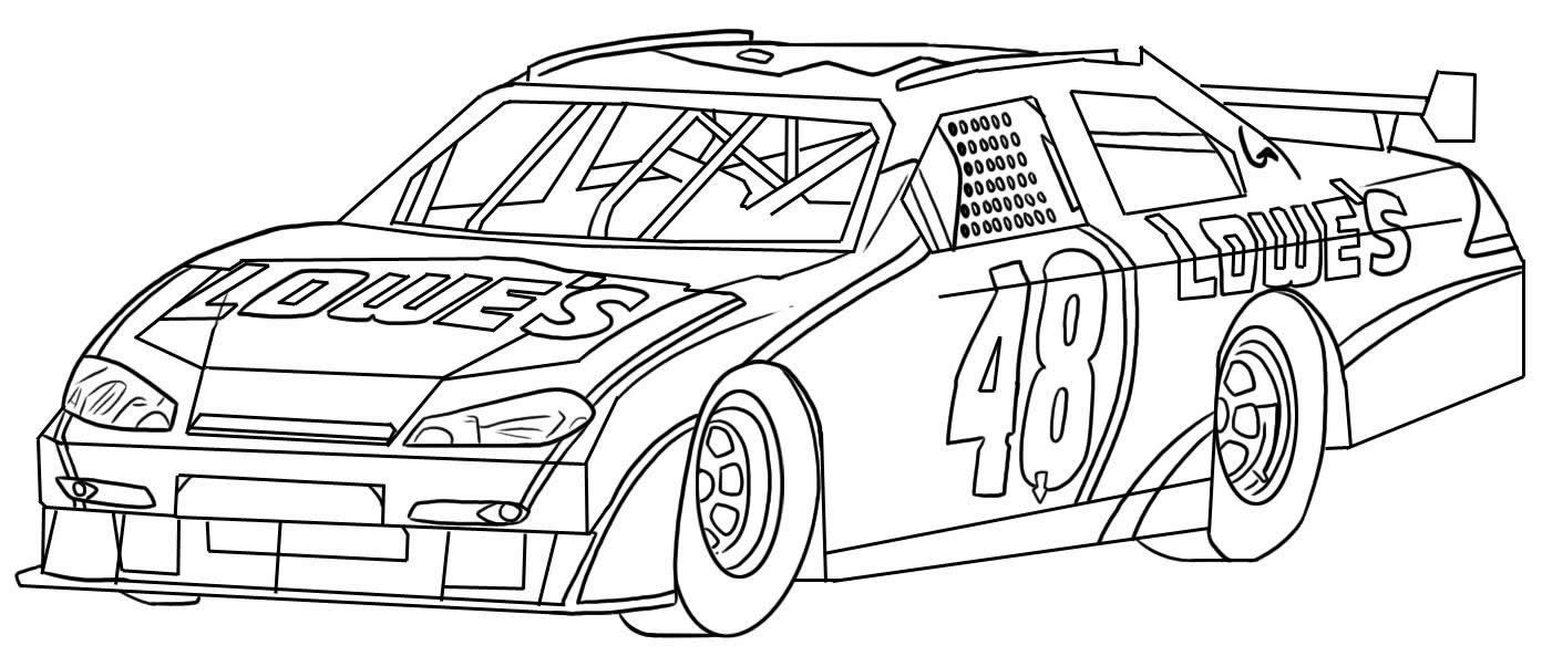Nascar Race Car Sport Coloring Page
