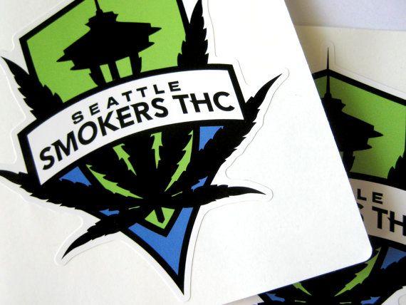 Seattle sounders fc smokers thc die cut waterproof by c2kdesign