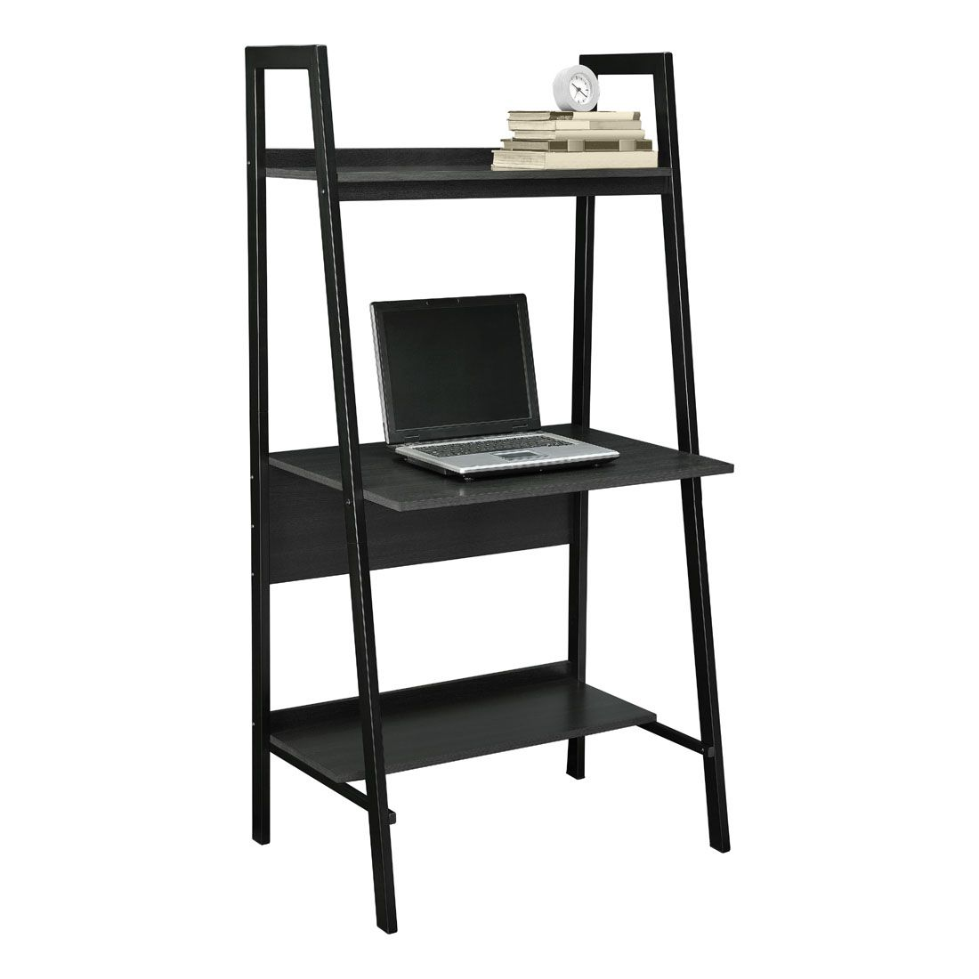 99+ Black Ladder Desk - Rustic Home Office Furniture Check more at ...