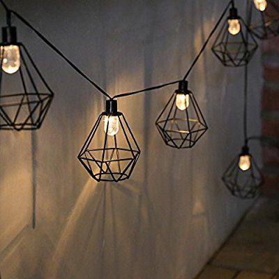 Solar Metall Terrarium Kafig Lichterkette Leds Warmweiss 3m Von Festive Lights Svetilniki Na Verevke Solnechnye Fonari Lampochka