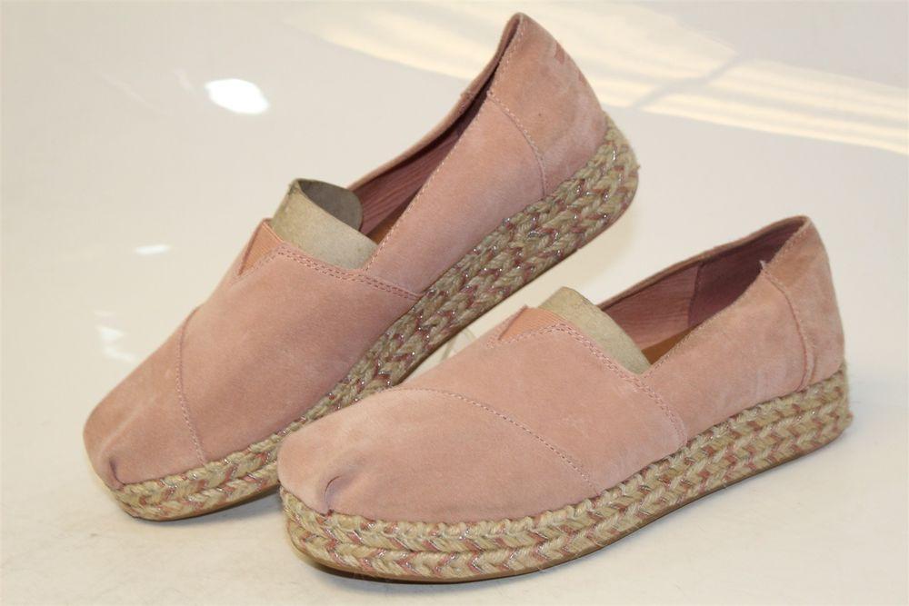 900c339bccc TOMS Womens 9.5 41 Platform Alpargata NEW Pink Suede Espadrilles Shoes sje   fashion  clothing