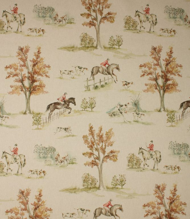 This Stylish Hunting Scene Fabric Is A Great Curtain