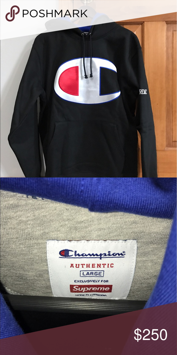 af672915ae5 Supreme x Champion Hoodie Champion logo is nylon - 100% deadstock - 100%  authentic - ships same day as purchase Supreme Sweaters