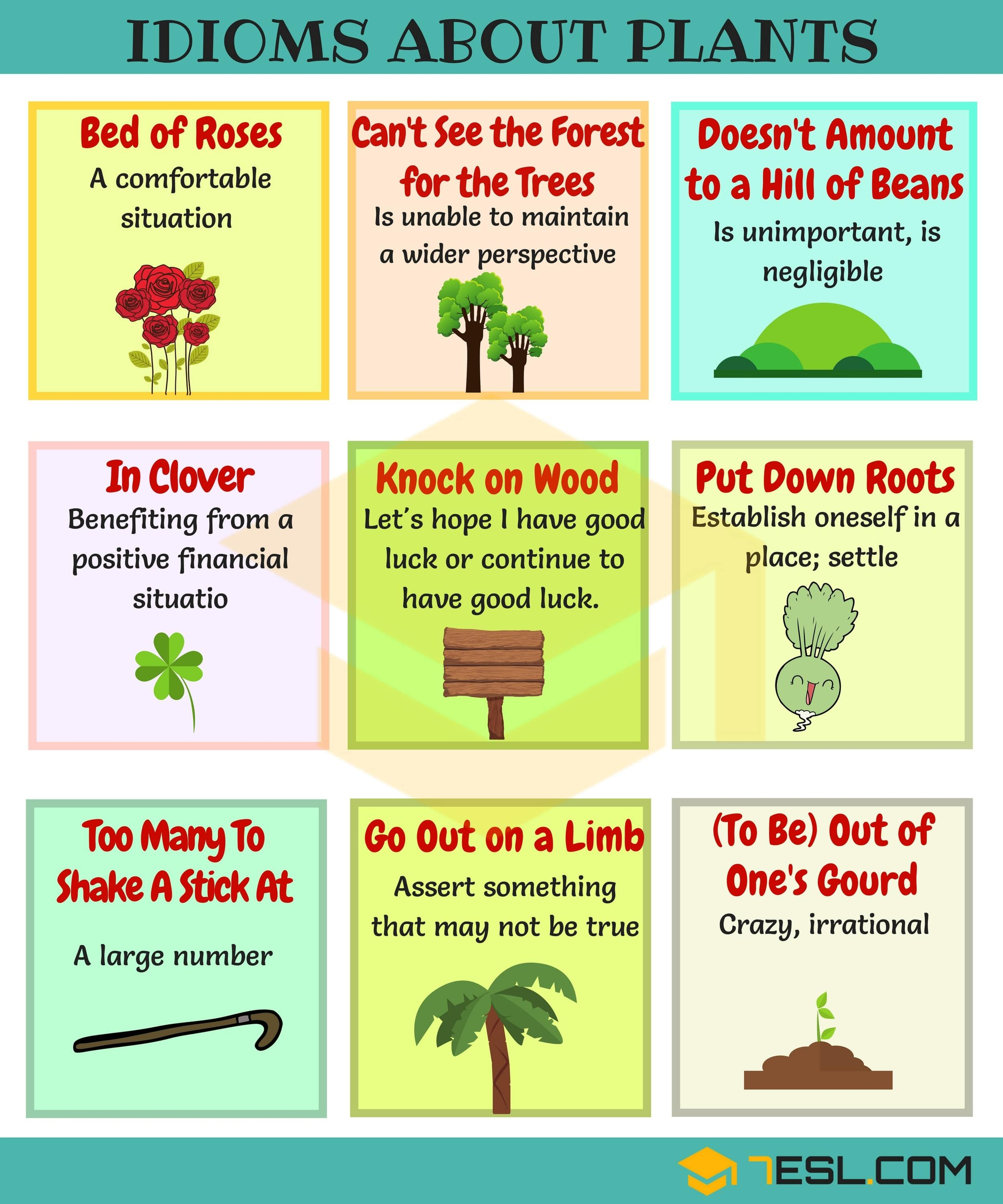 20+ Useful Trees, Plants and Flowers Idioms in English • 20ESL ...