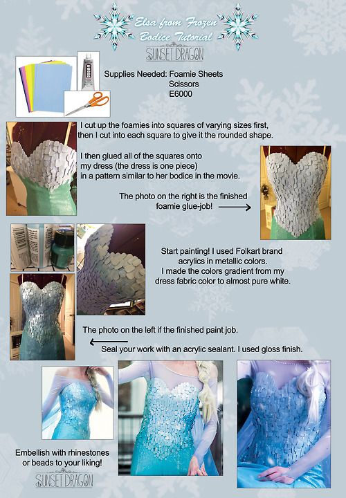 Elsa cosplay tutorial this looksally difficult but its queen elsa from frozen diy bodice tutorial by flying fox this technique would work for so many things solutioingenieria Images