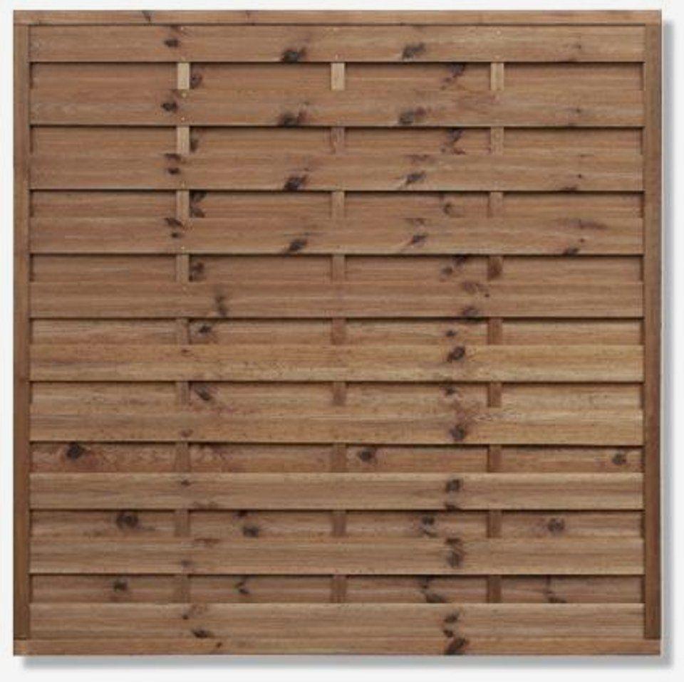 Sichtschutzzaun 180 X 180 Cm Kdi Braun ǀ Toom Baumarkt 30 00 Sichtschutzzaun Sichtschutzzaun Holz Zaun