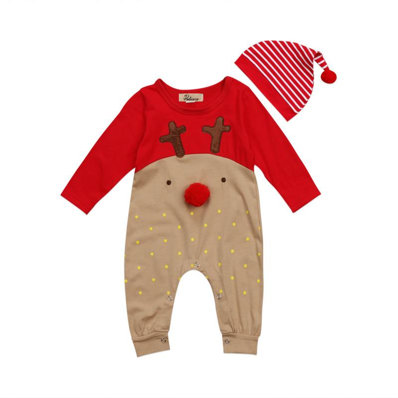 c7bb008b9 2 Piece Reindeer Romper + Hat Set | Holiday Gear | Baby outfits ...