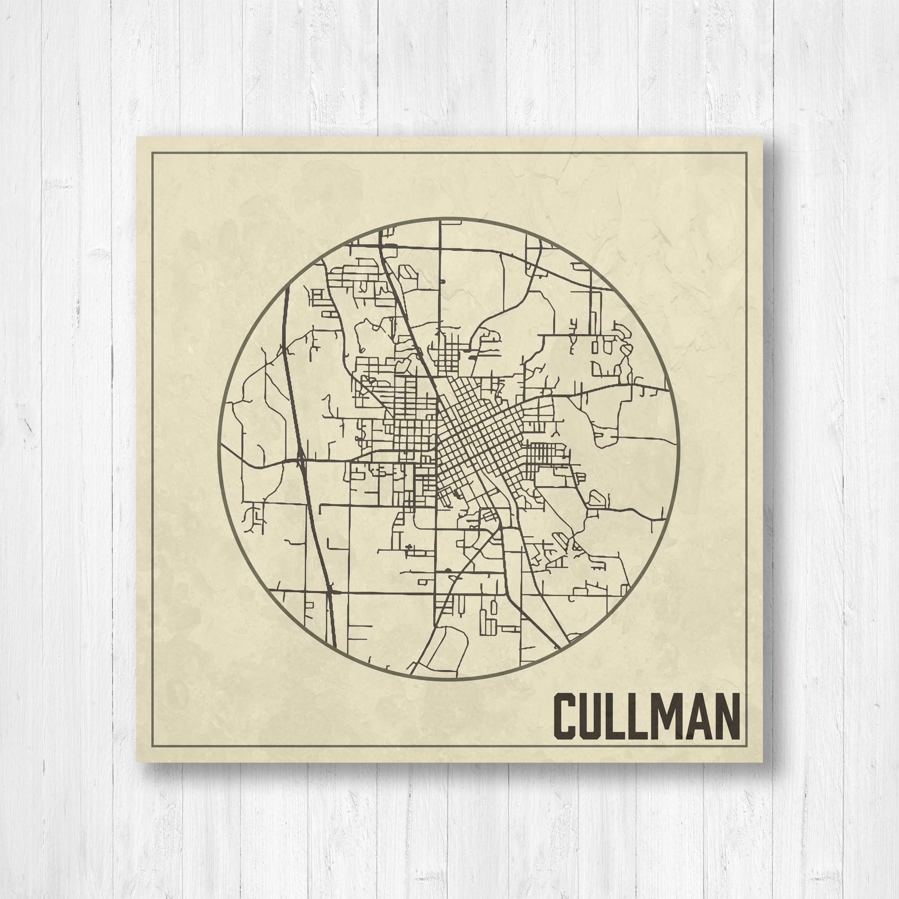 Cullman, Alabama, Cullman Street Map, Map with Streets, Weathered ...