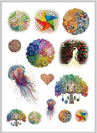 01fb63266 Waterproof Temporary Tattoo Sticker color peacock windmill Jellyfish leaf water  transfer Flash tatto Fake Tattoo for women gril-in Temporary Tattoos from  ...