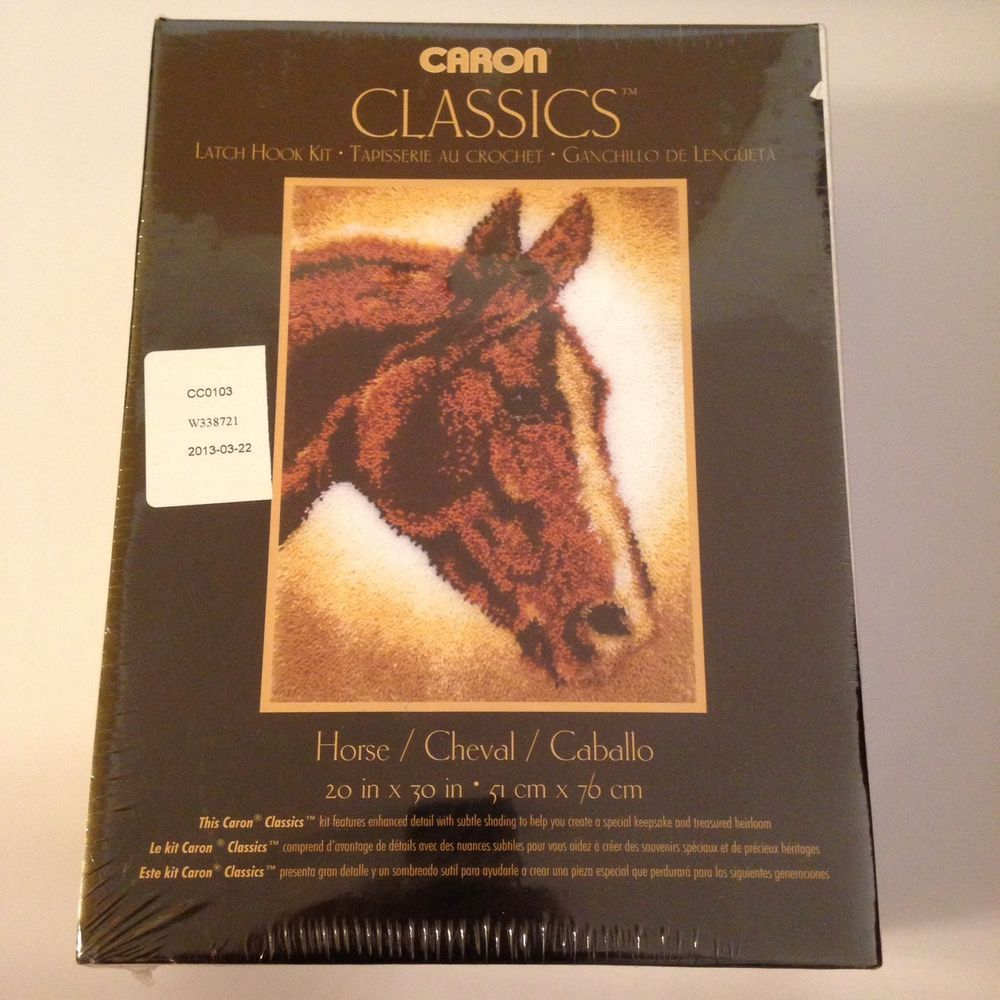"Spinrite Wonderart Classics Horse Latch Hook Kit 20/"" X 30/"" Classic Caron Rug"
