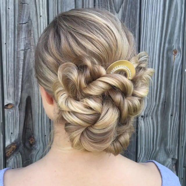 Hairstyles For Communion Upstyles: Вечерняя прическа пучок On Vimeo