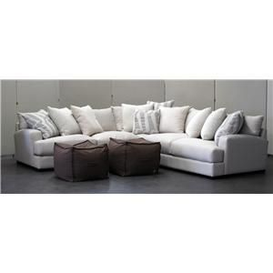 Carlin Contemporary Sofa Sectional Group with Loose Back Pillows by ...