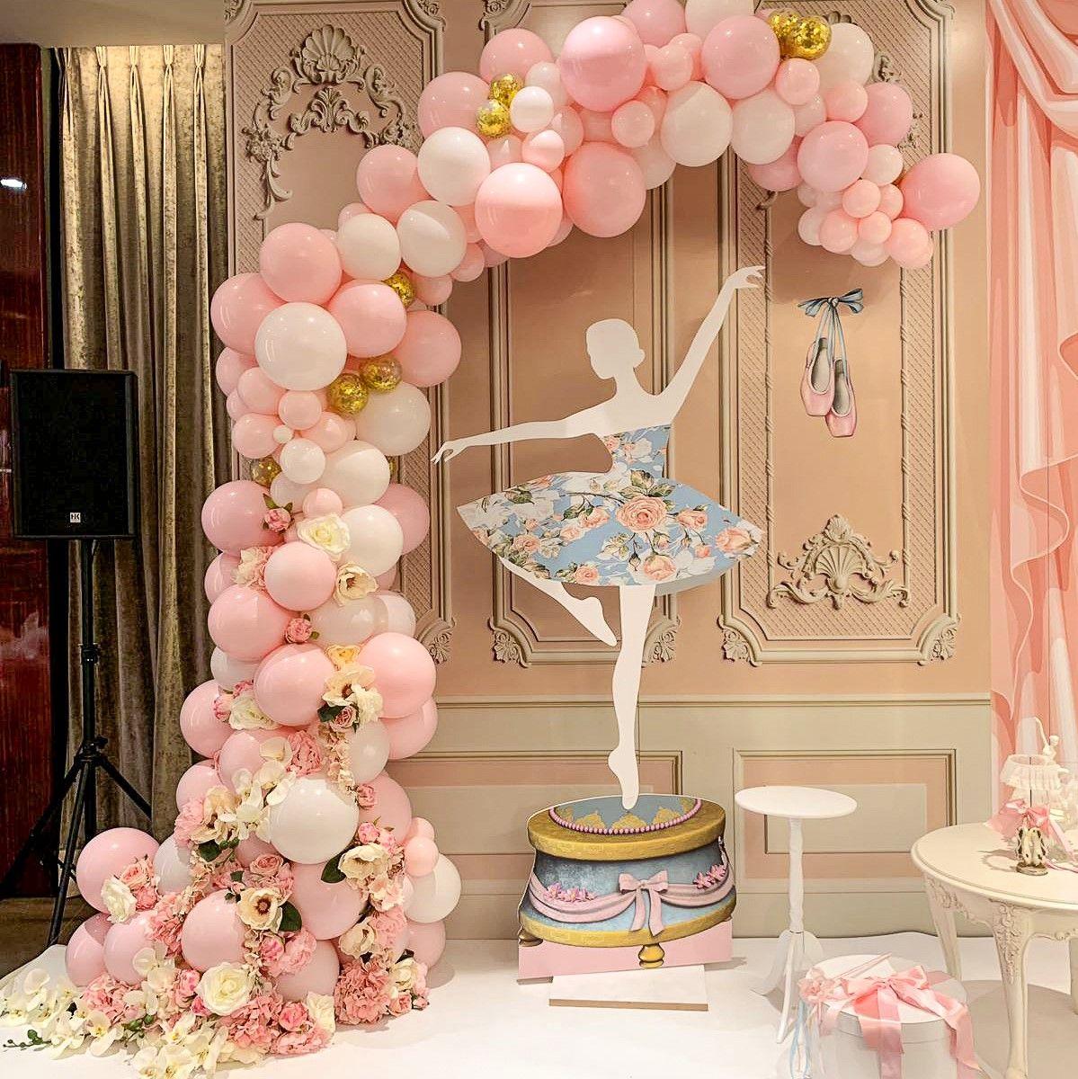 Floral Balloon Arch, Ballerina Party  Ballerina birthday parties