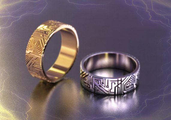 Geek Wedding Ring Circuit Board Ring Programmer Gift Computer