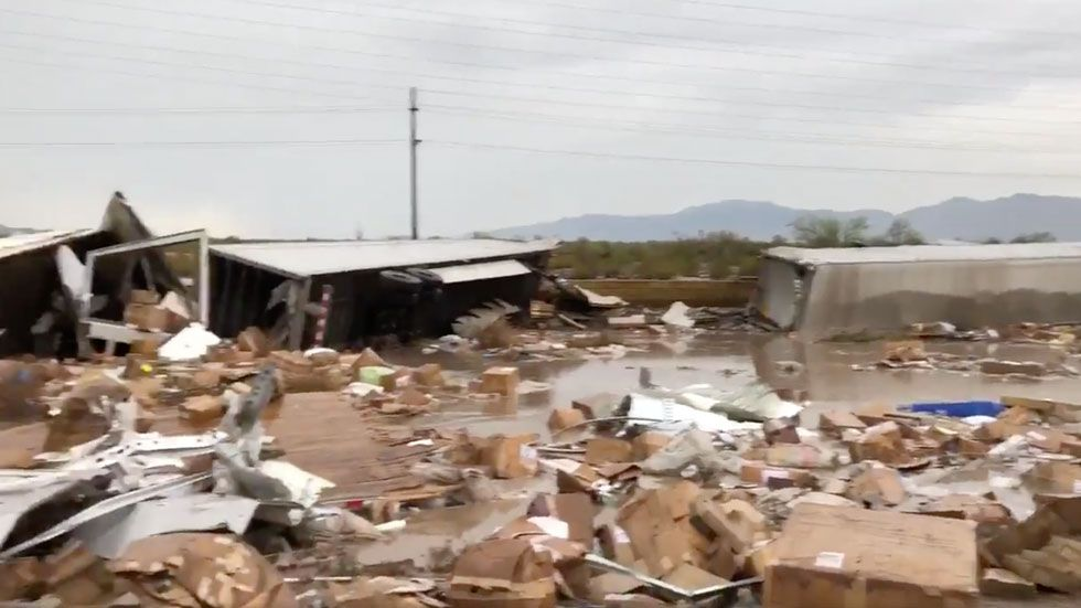 Flash Flooding Derails Train in Arizona Arizona, Train
