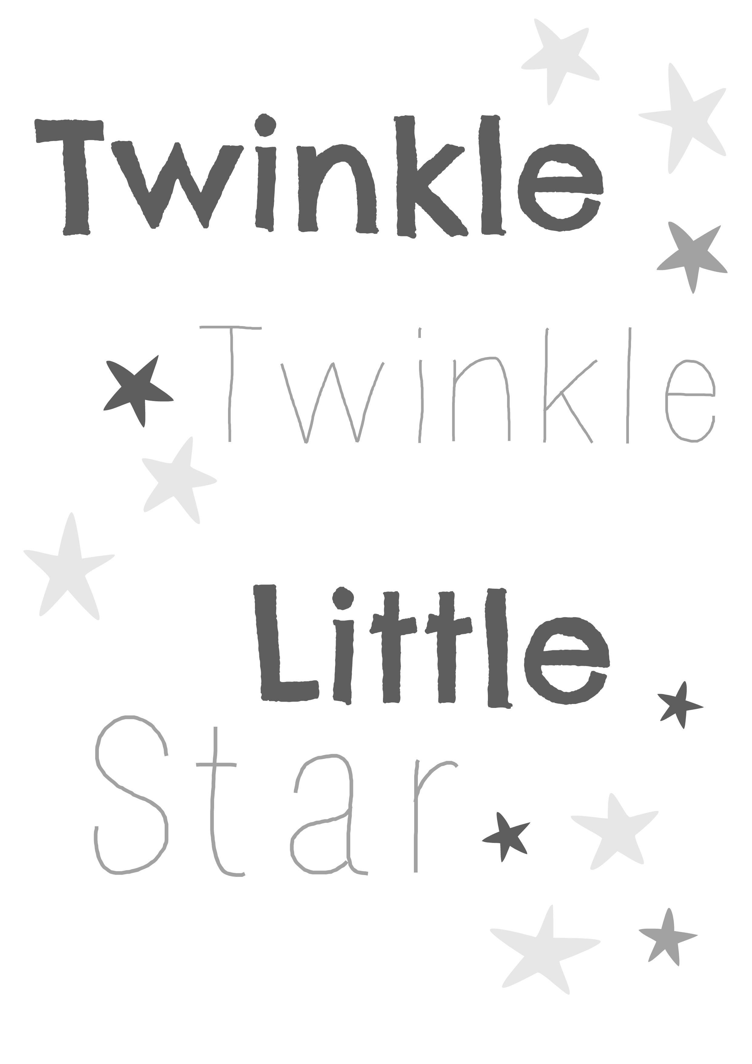 Twinkle Twinkle Little Star Nursery Print Free Printable From