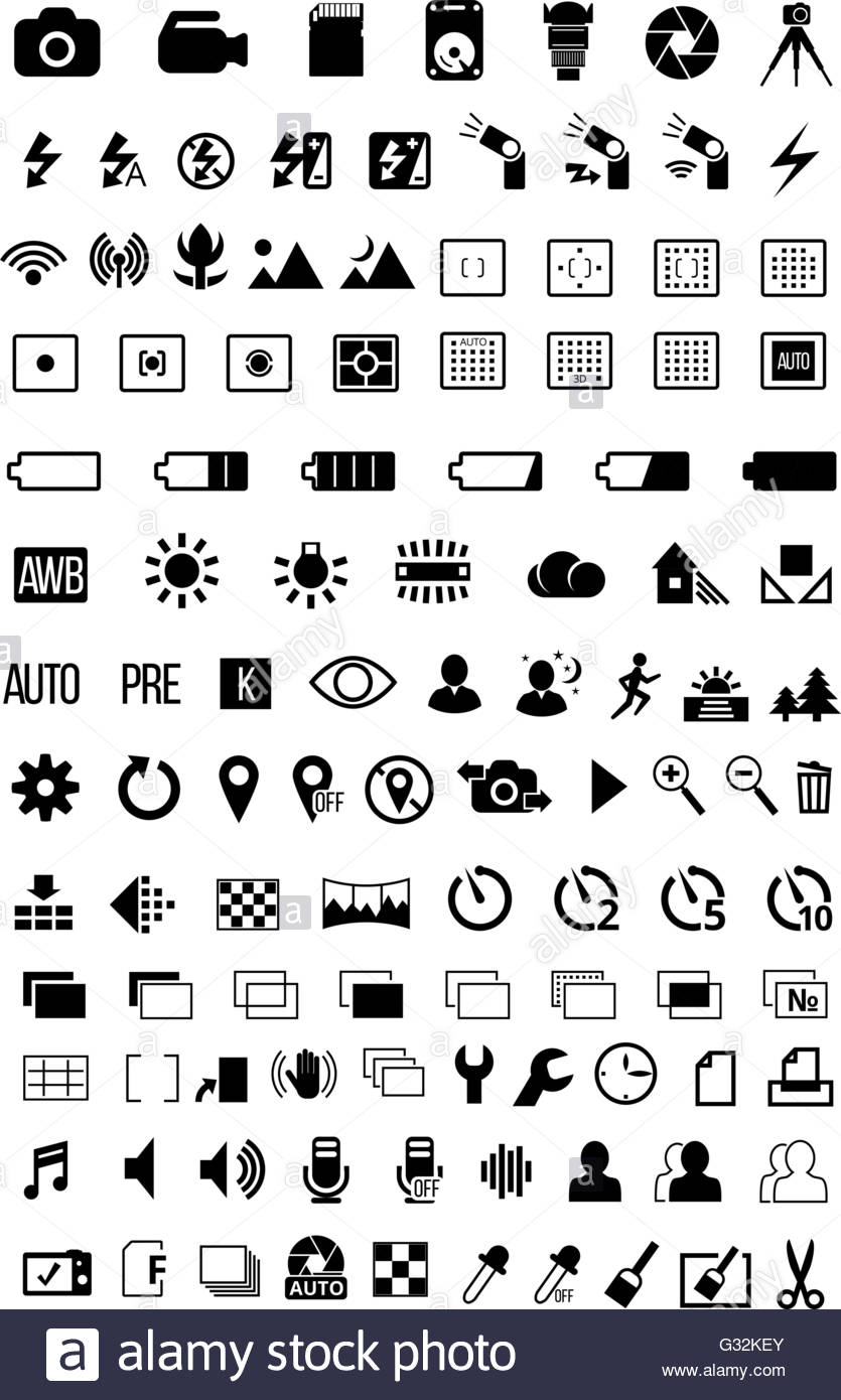 Download this stock vector Camera mode Icons G32KEY