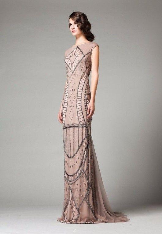 Impresionantes vestidos de noche hasta el suelo...