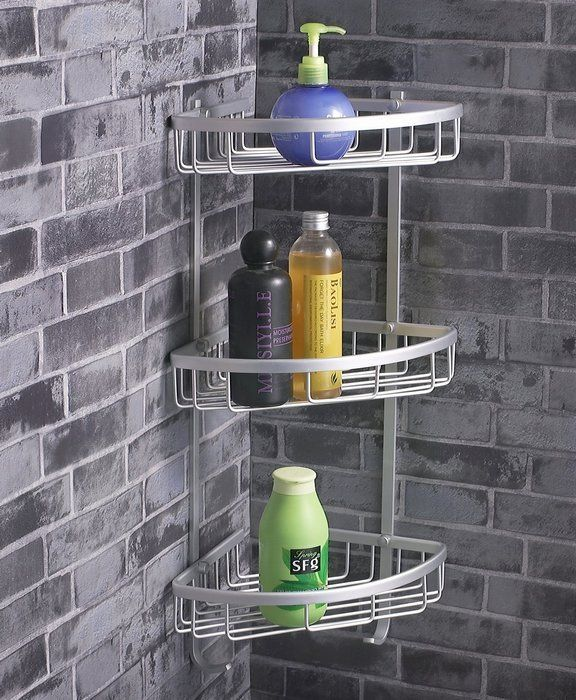 Brilliant Bathroom Storage Using Trendy Corner Shower Caddy - Metal corner shelf bathroom for bathroom decor ideas