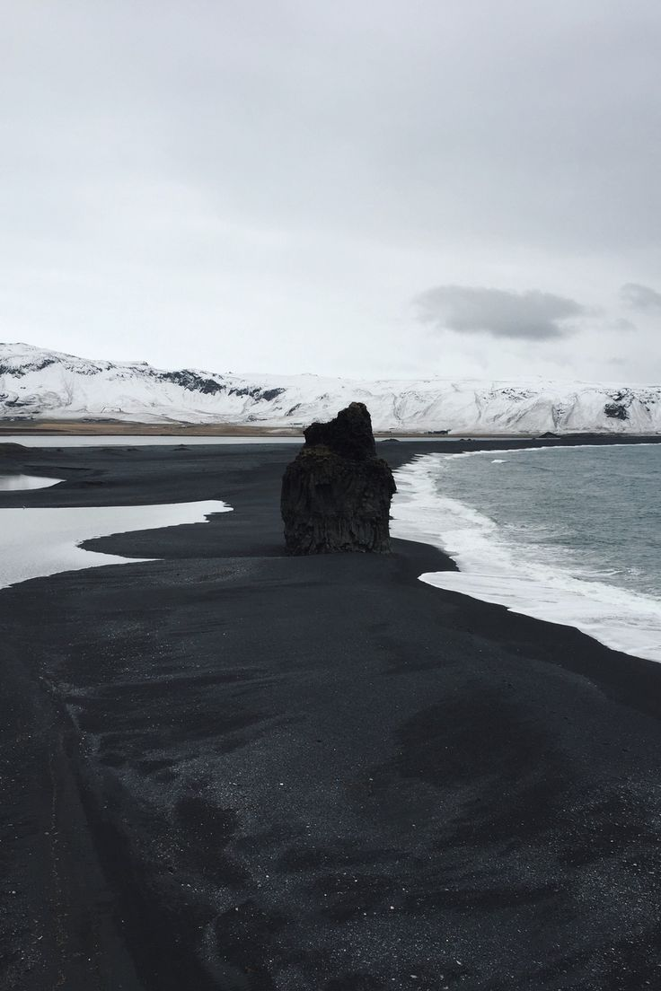 black sand beach vik iceland places pinterest. Black Bedroom Furniture Sets. Home Design Ideas