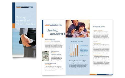 Financial Planning \ Consulting Brochure Template by @StockLayouts - pamphlet layout template