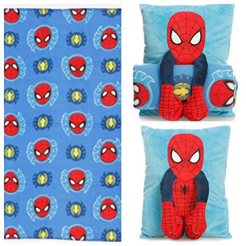 Marvel Ultimate Spiderman Toddler Cuddle Time Snuggle Buddy Pillow ...
