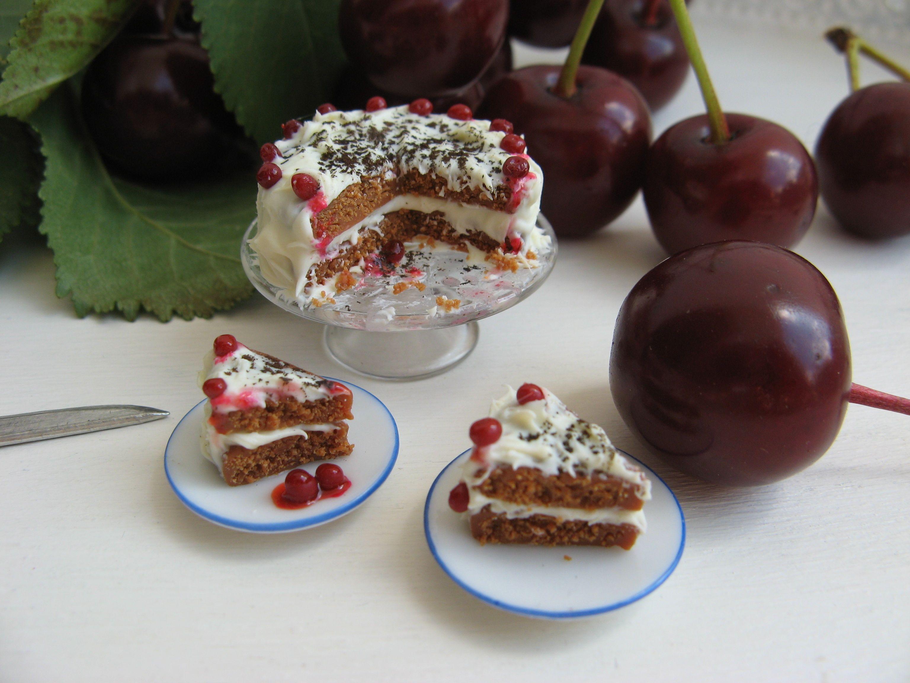 Two-layered cherry cake.