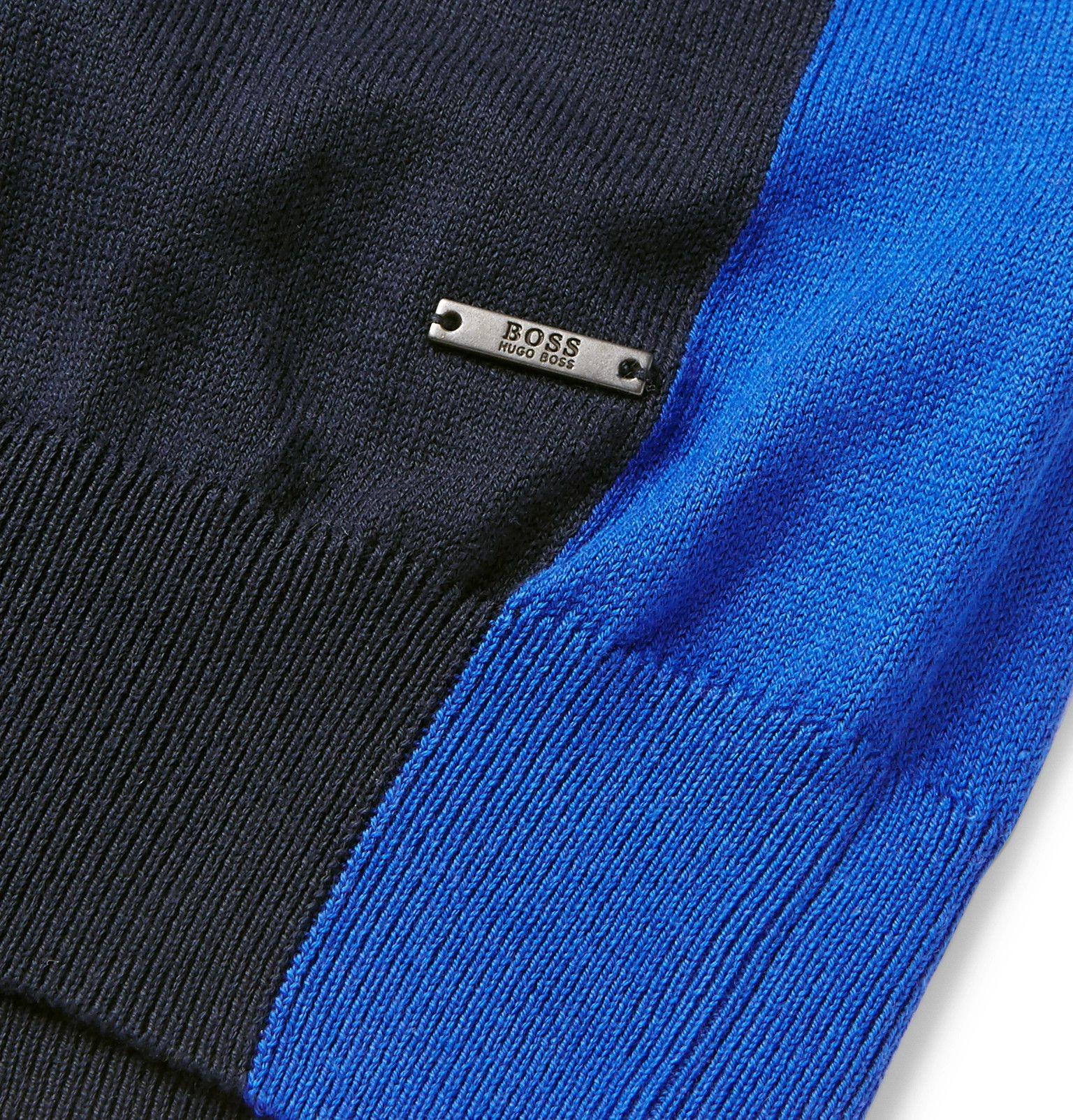 965fef156 Hugo Boss - Tanello Colour-Block Cotton Sweater   mens sweater in ...