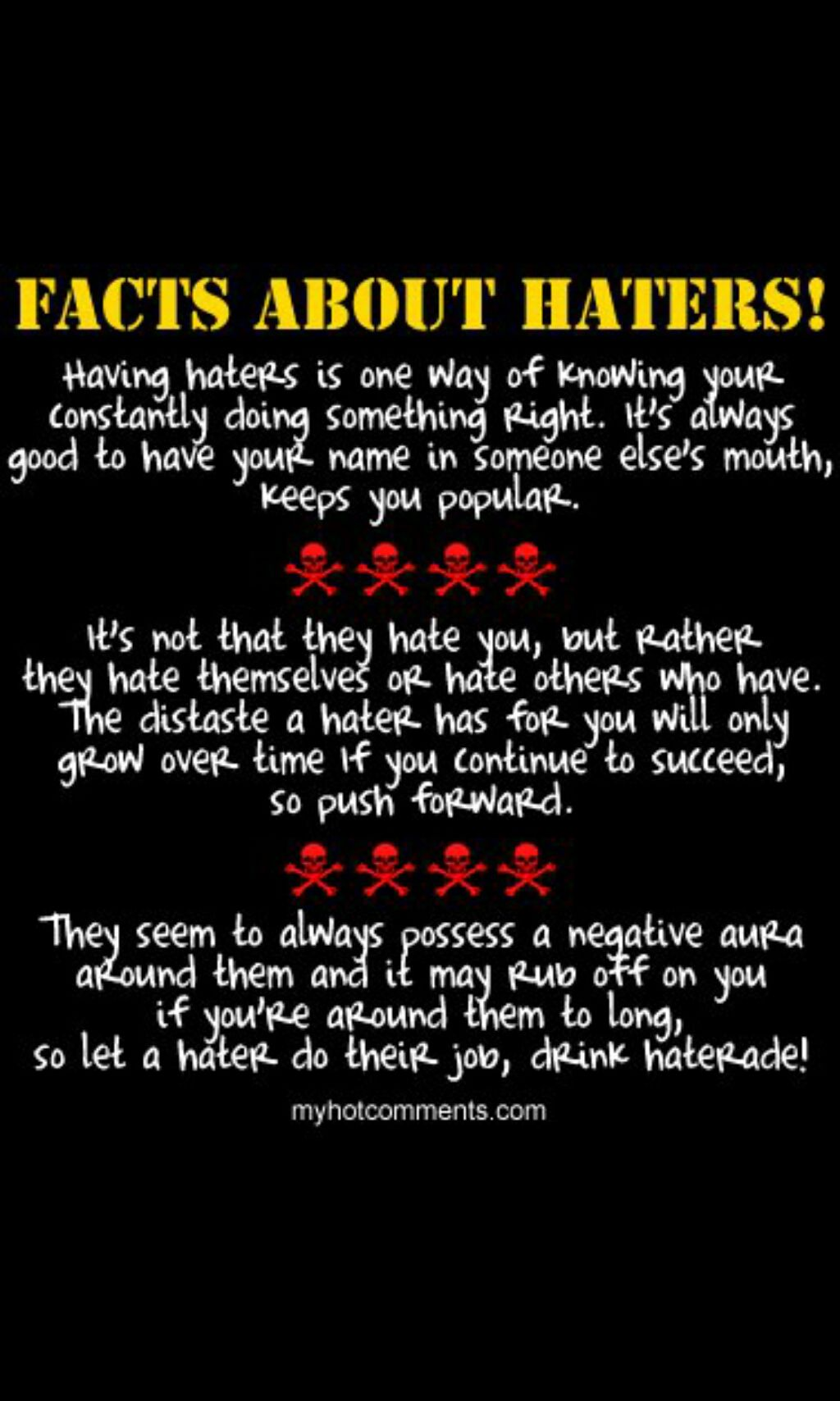 Facts About Haters Words Of Wisdom Words Facts