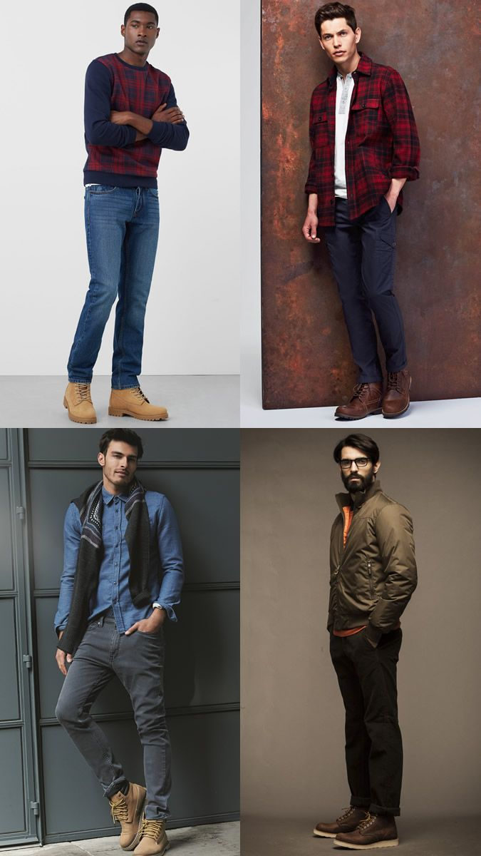 Men's Work Boots Outfit Inspiration Lookbook | Fashion Beans ...