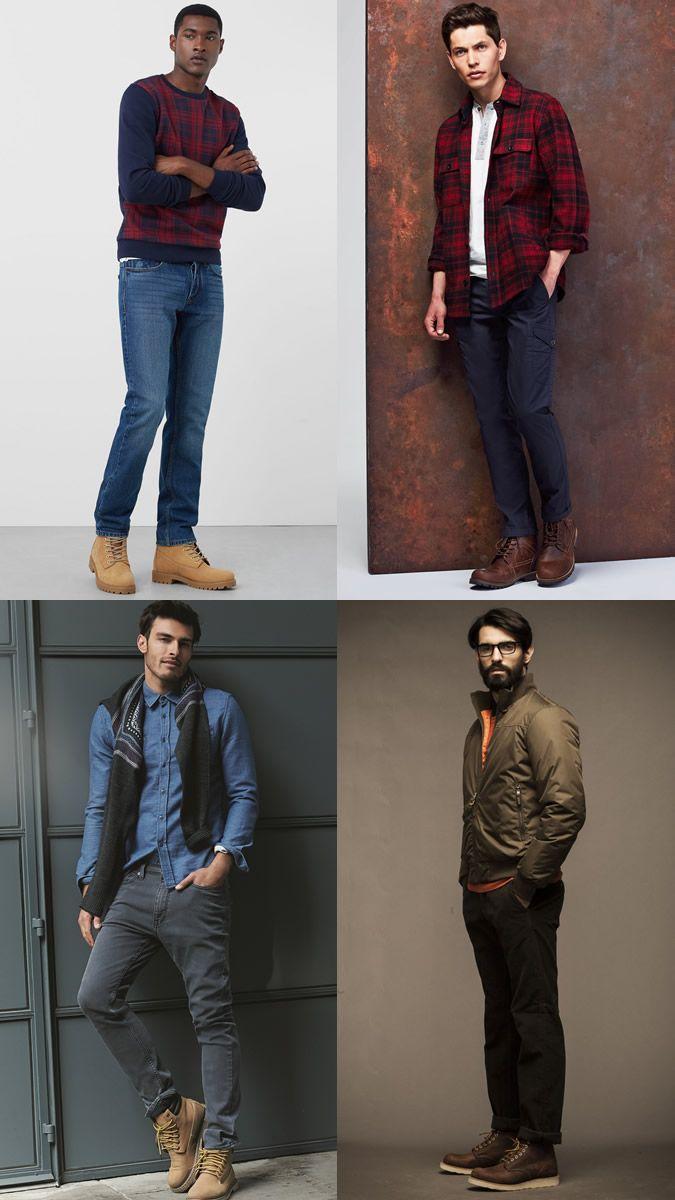 Men s Work Boots Outfit Inspiration Lookbook  c68dec0d6