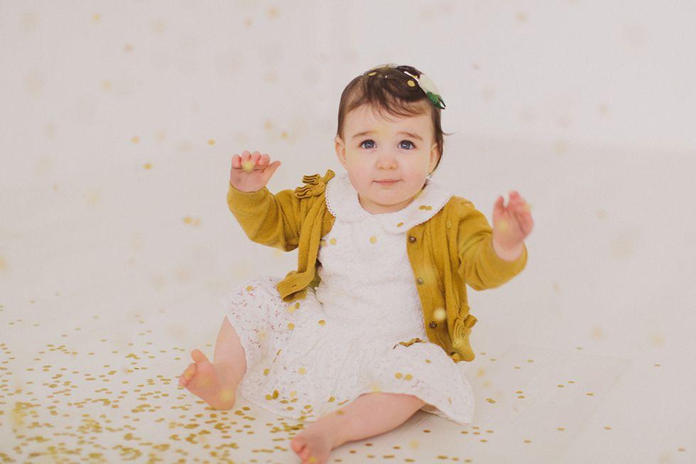 Confetti photoshoot first birthday childrens photography rinkadink studio belfast